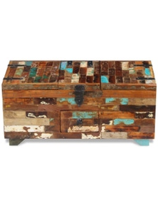 Coffee Table Box Chest Solid Reclaimed Wood