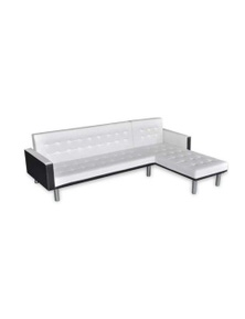 L-Shaped Sofa Bed Faux Leather