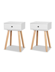 Bedside Tables 2 Pieces Solid