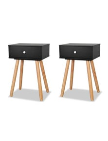 Bedside Tables 2 Pieces Solid Pinewood