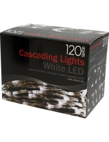 Lights 120 White Led Cascading With Controller