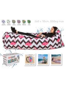 Airpod Inflatable Leisure Lounge Digital Print - Zigzag Flamingo