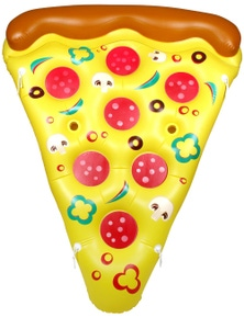 Giant Pizza Slice With Drink Holders