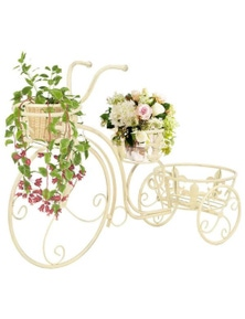 Vintage Style Bicycle Shape Metal Plant Stand