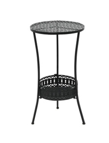 Vintage Style Round Metal Bistro Table
