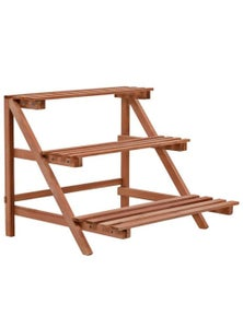 3 Tier Cedar Wood Plant Stand