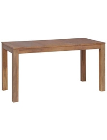 Natural Finished Solid Teak Wood Dining Table