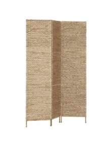 3 Panel Water Hyacinth Room Divider