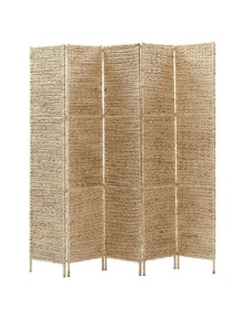 5 Panel Water Hyacinth Room Divider