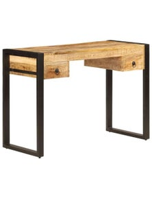 Solid Mango Wood Desk with 2 Drawers