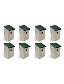 8 Pieces Wooden Bird Houses