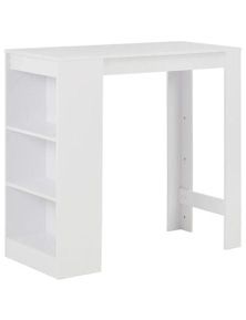 White Bar Table with Shelves