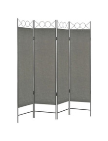 Anthracite 4 Panel Room Divider
