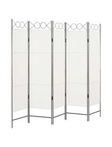 White 5 Panel Room Divider
