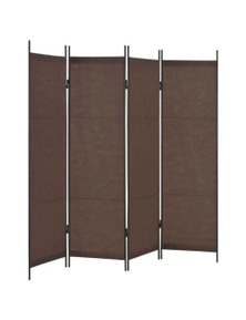 Brown Room Divider Four Panel