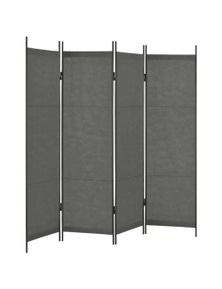 Anthracite Room Divider Four Panel