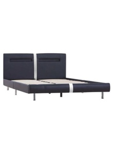 Faux Leather Double Size Bed Frame with LED