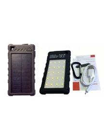 Rugged Solar Power Bank 8000mAh With 20 LED Lights 5W Lighting