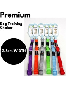 DOG TRAINING CHOKER Collar Martingale Adjustable Lead 2.5cm Width Strong New