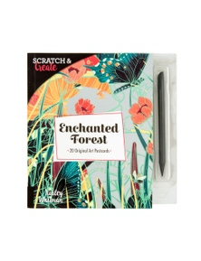 ScratchCreate Enchanted Forest Postcard Book