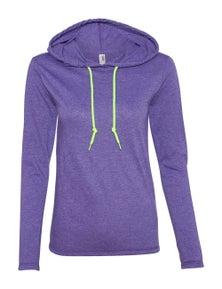 Anvil Womens Lightweight Long Sleeve Hooded T-Shirt