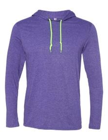Anvil Adult Lightweight Long Sleeve Hooded T-Shirt