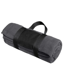 Port Authority Fleece Blanket with Carrying Strap