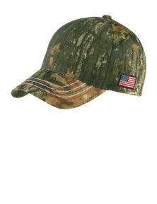 Port & Company Americana Contrast Stitch Camouflage Cap