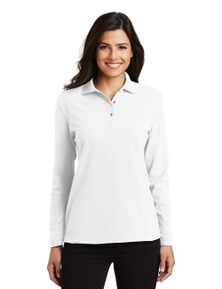 Port Authority Ladies Silk Touch Long Sleeve Polo