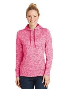 Sport-Tek Ladies PosiCharge Electric Heather Fleece Hooded Pullover
