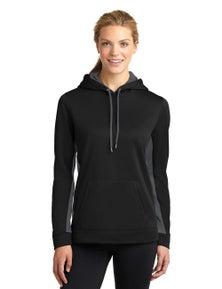 Sport-Tek Ladies Sport-Wick Fleece Colorblock Hooded Pullover