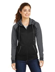 Sport-Tek Ladies Sport-Wick Varsity Fleece Full-Zip Hooded Jacket