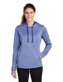 Sport-Tek Ladies PosiCharge Sport-Wick Heather Fleece Hooded Pullover
