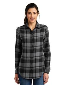 Port Authority Ladies Plaid Flannel Tunic