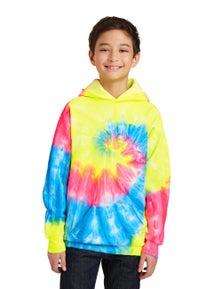 Port & Company Youth Tie-Dye Pullover Hooded Sweatshirt