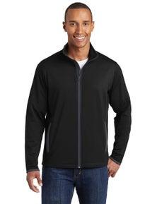 Sport-Tek Sport-Wick Stretch Contrast Full-Zip Jacket