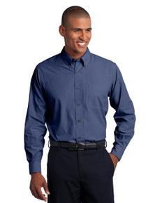 Port Authority Tall Crosshatch Easy Care Shirt