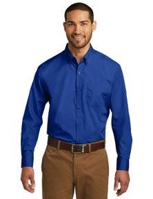 Port Authority Tall Long Sleeve Carefree Poplin Shirt