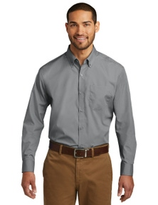 Port Authority Long Sleeve Carefree Poplin Shirt