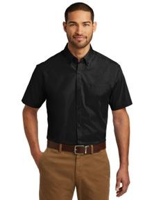 Port Authority Short Sleeve Carefree Poplin Shirt