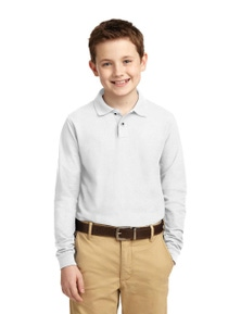 Port Authority Youth Long Sleeve Silk Touch Polo