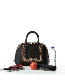 Donna Cool Clutch (Black & Leopard) Cool Classic Cooler Handbag