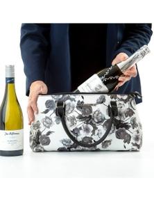 Barbara Cool Clutch (Black & White Flower) Cooler bags