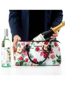 Rosemary Cool Clutch (Green & Red Flowers) Cooler bags