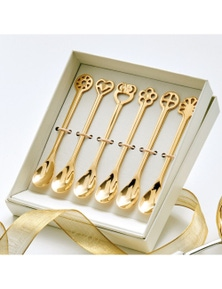 Bugatti Lucky Charm 24k Gold Moka Spoons Set of 6