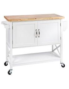 Meubilair Hamptons Kitchen 2 Door Island Solid wood Counter Top