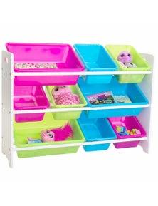 Meubilair Mia Kids Storage Unit with 9 Bins