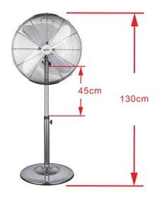 Digilex Chrome Pedestal Metal Fan, 45cm