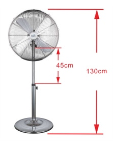 Digilex Chrome Pedestal Metal Fan, 45cm