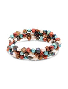 By Fairfax & Roberts - Real Freshwater Pearl Memory Wire Bracelet